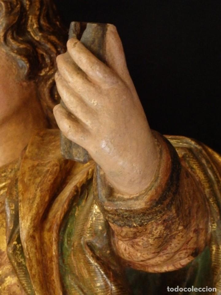 Arte: Alegoría de la Libertad. escultura tallada en madera de la Escuela Romanista del siglo XVI. 76 cm. - Foto 13 - 146693934