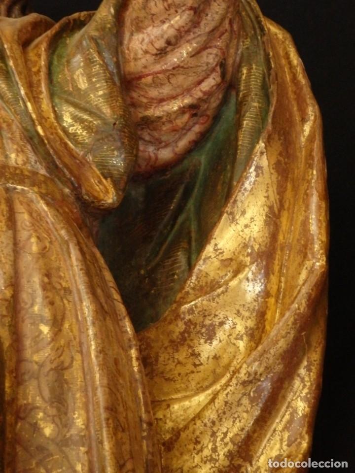 Arte: Alegoría de la Libertad. escultura tallada en madera de la Escuela Romanista del siglo XVI. 76 cm. - Foto 15 - 146693934