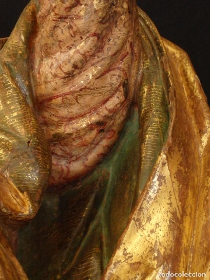 Arte: Alegoría de la Libertad. escultura tallada en madera de la Escuela Romanista del siglo XVI. 76 cm. - Foto 16 - 146693934