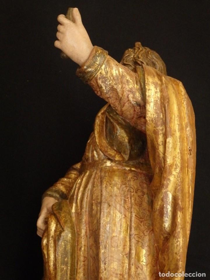 Arte: Alegoría de la Libertad. escultura tallada en madera de la Escuela Romanista del siglo XVI. 76 cm. - Foto 20 - 146693934