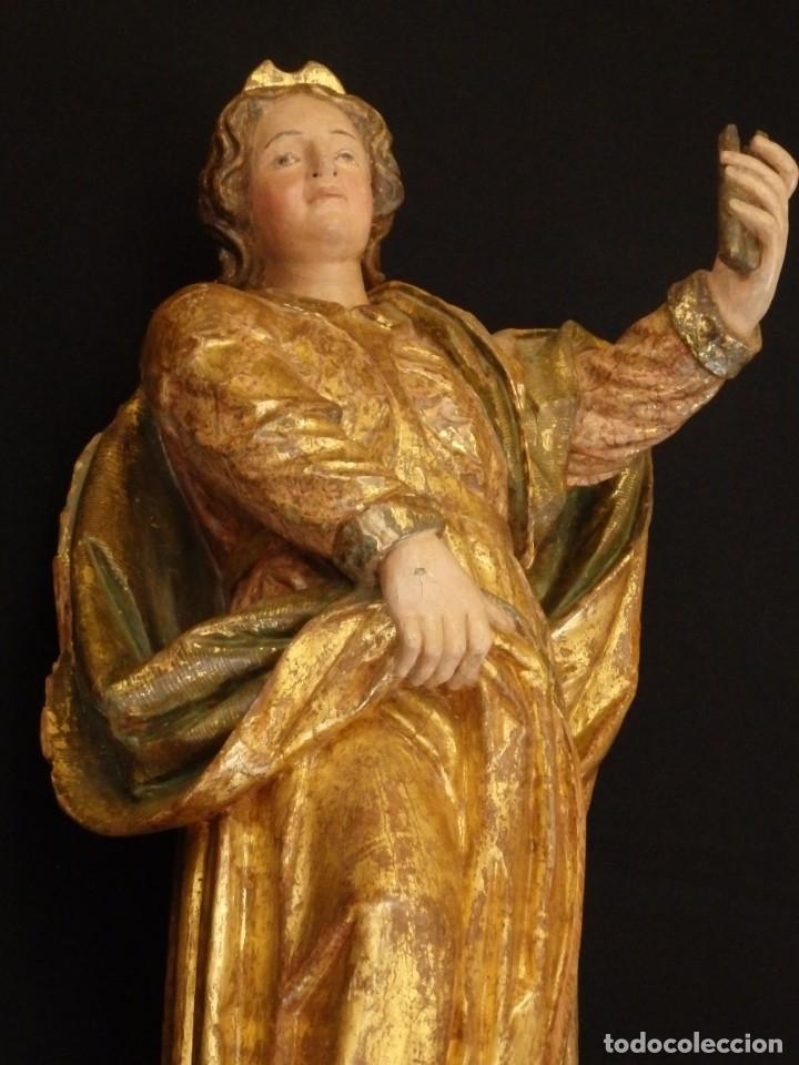 Arte: Alegoría de la Libertad. escultura tallada en madera de la Escuela Romanista del siglo XVI. 76 cm. - Foto 19 - 146693934