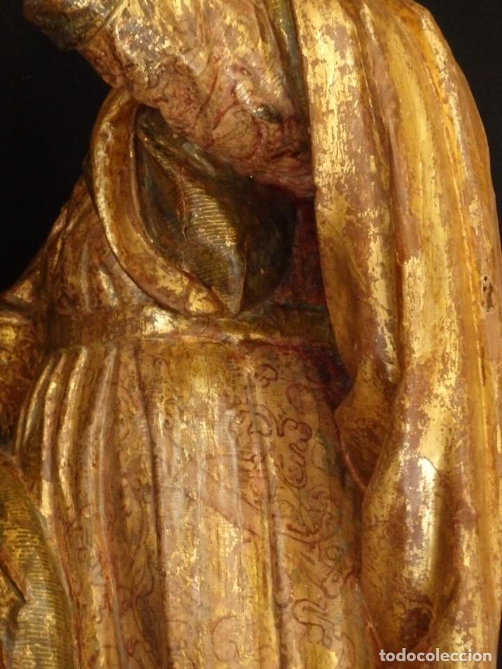 Arte: Alegoría de la Libertad. escultura tallada en madera de la Escuela Romanista del siglo XVI. 76 cm. - Foto 21 - 146693934
