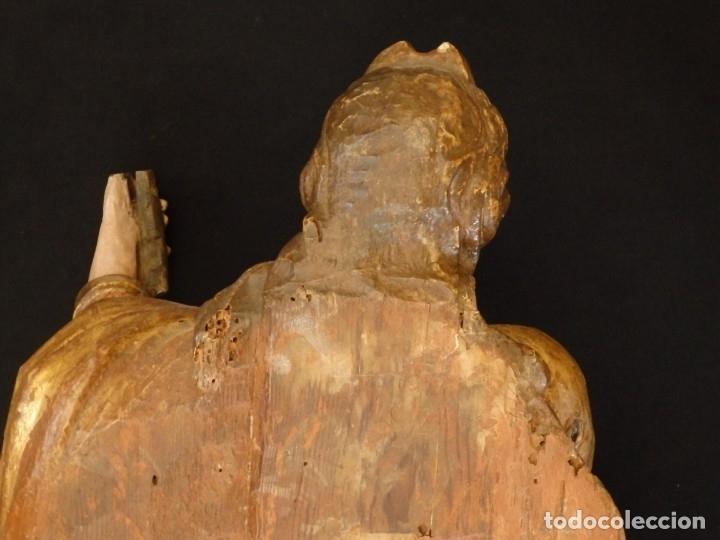 Arte: Alegoría de la Libertad. escultura tallada en madera de la Escuela Romanista del siglo XVI. 76 cm. - Foto 25 - 146693934