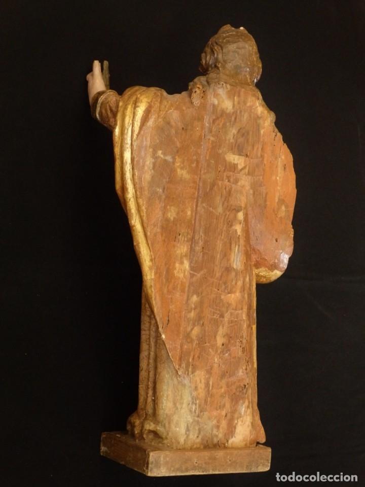 Arte: Alegoría de la Libertad. escultura tallada en madera de la Escuela Romanista del siglo XVI. 76 cm. - Foto 24 - 146693934