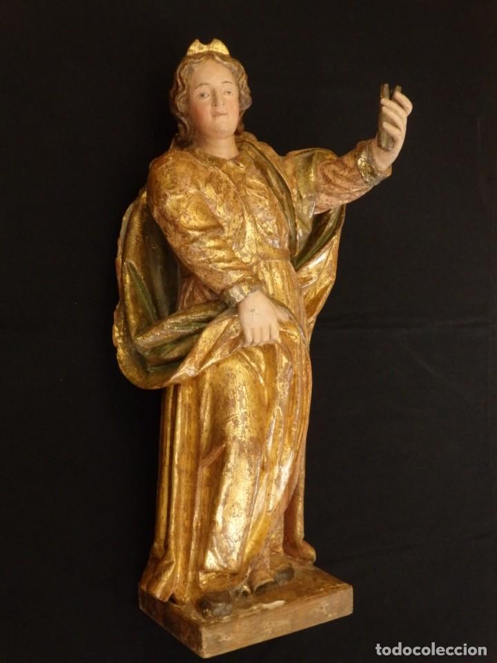Arte: Alegoría de la Libertad. escultura tallada en madera de la Escuela Romanista del siglo XVI. 76 cm. - Foto 2 - 146693934