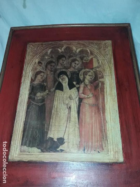 Arte: Cuadro reproducción Santa Catalina de Siena y otras santas de Giovanni da Milano - Foto 4 - 146745234