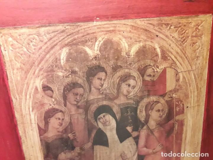 Arte: Cuadro reproducción Santa Catalina de Siena y otras santas de Giovanni da Milano - Foto 6 - 146745234
