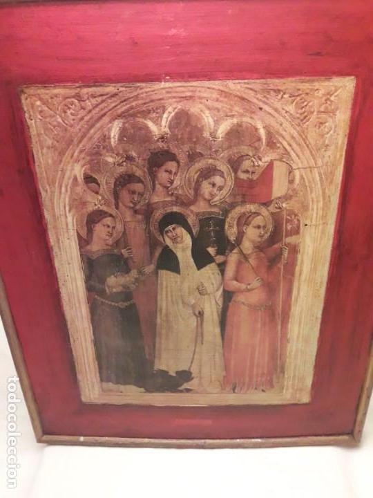 Arte: Cuadro reproducción Santa Catalina de Siena y otras santas de Giovanni da Milano - Foto 7 - 146745234