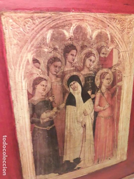 Arte: Cuadro reproducción Santa Catalina de Siena y otras santas de Giovanni da Milano - Foto 8 - 146745234