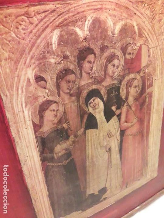 Arte: Cuadro reproducción Santa Catalina de Siena y otras santas de Giovanni da Milano - Foto 9 - 146745234