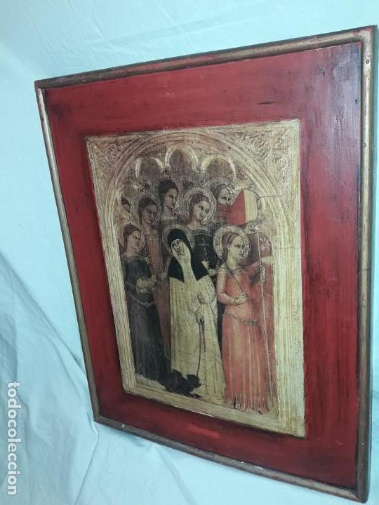 Arte: Cuadro reproducción Santa Catalina de Siena y otras santas de Giovanni da Milano - Foto 2 - 146745234