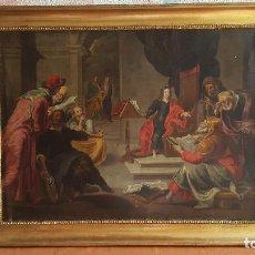 Arte: PRECIOSO COBRE RELIGIOSO ANTIGUO. FINALES SIGLO XVII- PRINCIPIOS XVIII. PINTURA RELIGIOSA ANTIGUA.. Lote 146861422