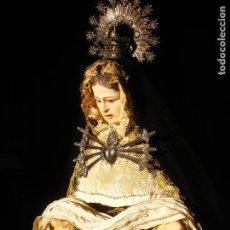 Arte: VIRGEN DOLOROSA CAP I POTA SXIX CORONAS DE PLATA. Lote 147142446