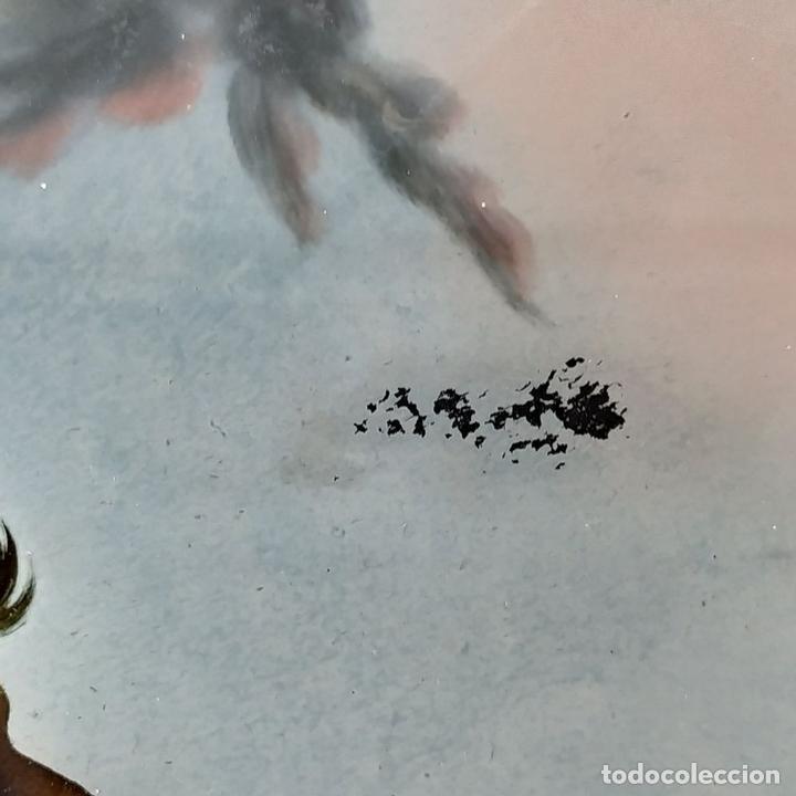 Arte: SAN JUAN BAUTISTA. PINTURA SOBRE CRISTAL. MARCO ANTIGUO. ANÓNIMO. ESPAÑA. SIGLO XVIII - Foto 3 - 147163430