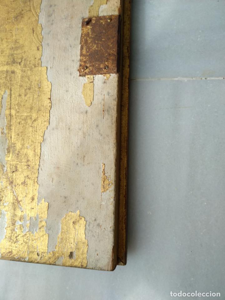 Arte: Antigua puerta de Sagrario con óleo lienzo - Foto 33 - 103376407