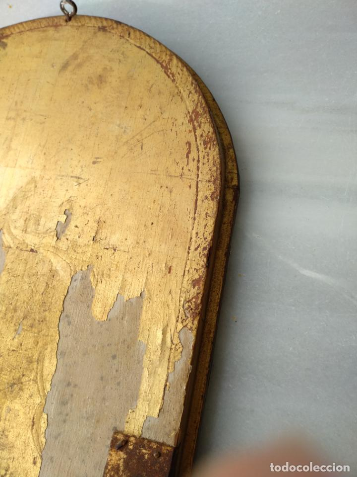 Arte: Antigua puerta de Sagrario con óleo lienzo - Foto 34 - 103376407