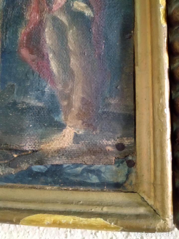 Arte: Antigua puerta de Sagrario con óleo lienzo - Foto 41 - 103376407