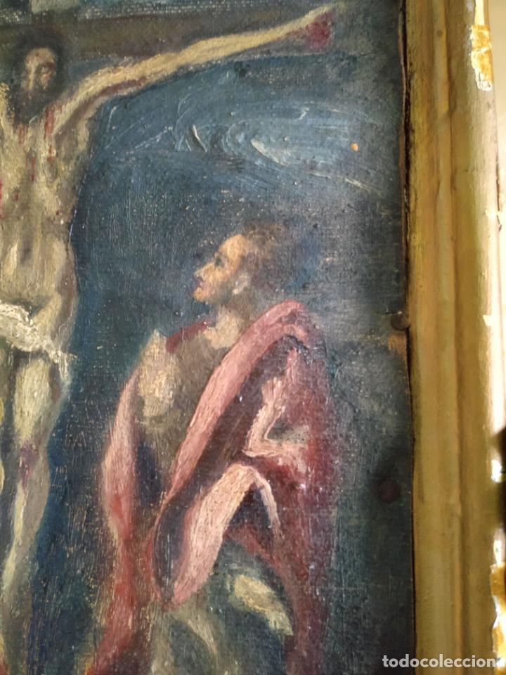 Arte: Antigua puerta de Sagrario con óleo lienzo - Foto 43 - 103376407