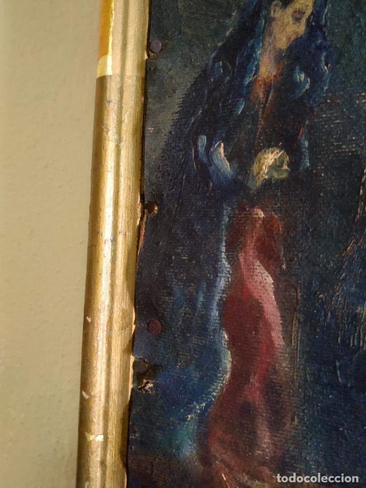 Arte: Antigua puerta de Sagrario con óleo lienzo - Foto 44 - 103376407