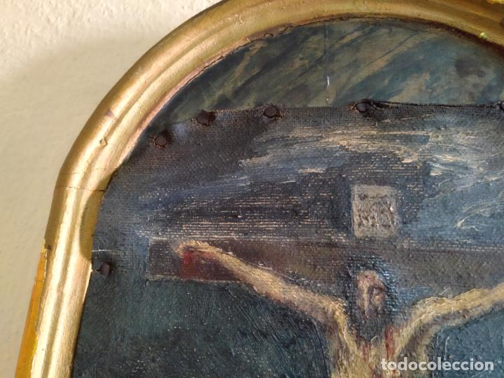 Arte: Antigua puerta de Sagrario con óleo lienzo - Foto 45 - 103376407