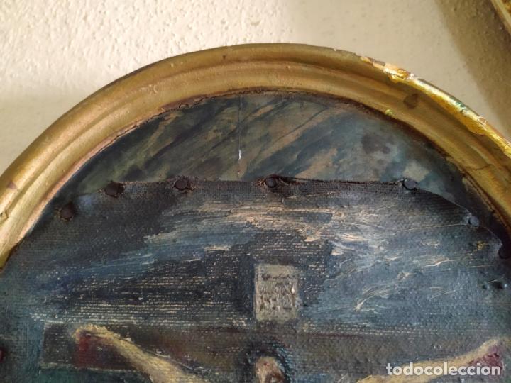 Arte: Antigua puerta de Sagrario con óleo lienzo - Foto 46 - 103376407