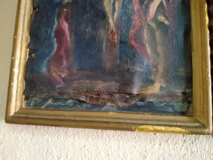 Arte: Antigua puerta de Sagrario con óleo lienzo - Foto 32 - 103376407