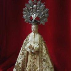 Arte: VIRGEN DE LA ASUNCIÓN DE ELCHE ANTIGUA 47 CM. Lote 143809246
