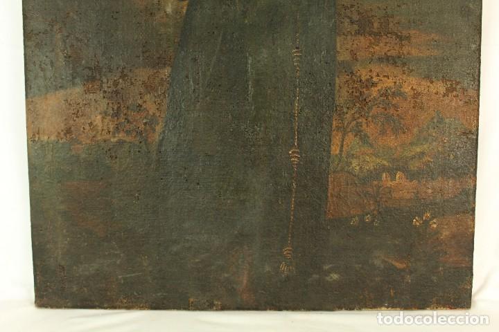 Arte: Oleo sobre tela Escuela española - San Antonio de Padua y Niño Jesús - SXVII - Foto 5 - 147354354