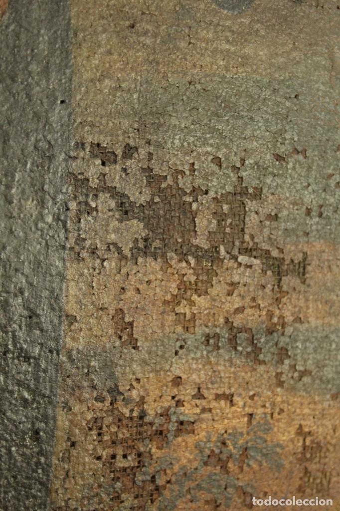 Arte: Oleo sobre tela Escuela española - San Antonio de Padua y Niño Jesús - SXVII - Foto 11 - 147354354