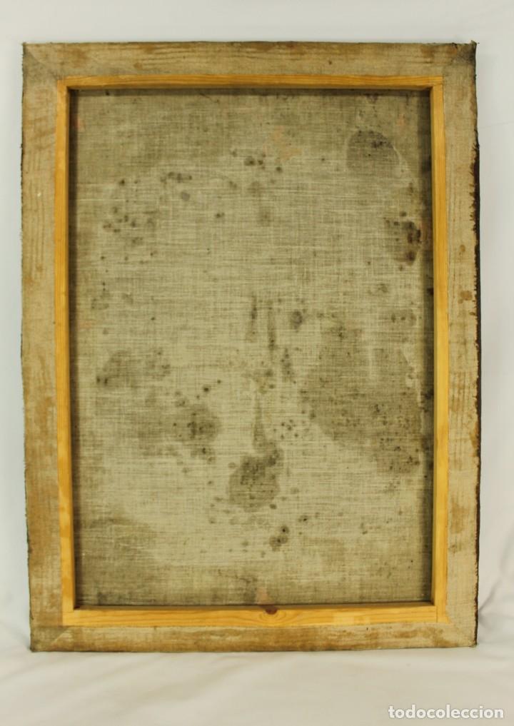 Arte: Oleo sobre tela Escuela española - San Antonio de Padua y Niño Jesús - SXVII - Foto 13 - 147354354