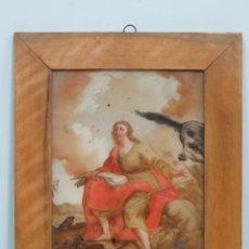Arte: SAN JUAN EVANGELISTA. OLEO S/ CRISTAL. ESCUELA ITALIANA. SIGLO XVIII-XIX. Lote 147390558