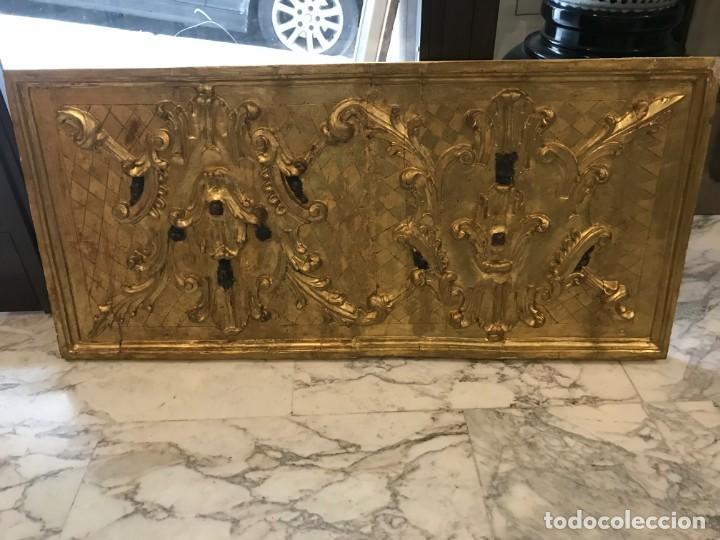 EXCEPCIONAL FRENTE DE ALTAR S. XVIII. ORO FINO (Arte - Arte Religioso - Retablos)