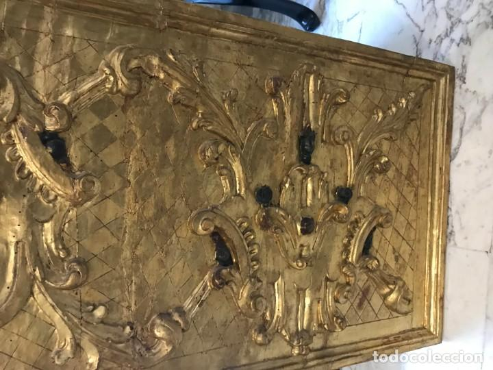 Arte: excepcional frente de altar s. xviii. oro fino - Foto 4 - 147393282
