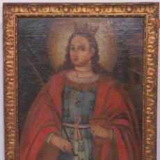 Arte: ANTIGUA SANTA BARBARA. OLEO SOBRE LIENZO. SIGLO XVII. Lote 147458810