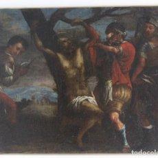 Arte: B-797. OLEO SOBRE LIENZO. MARTIRIO DE UN SANTO. S.XVIII.. Lote 147472458