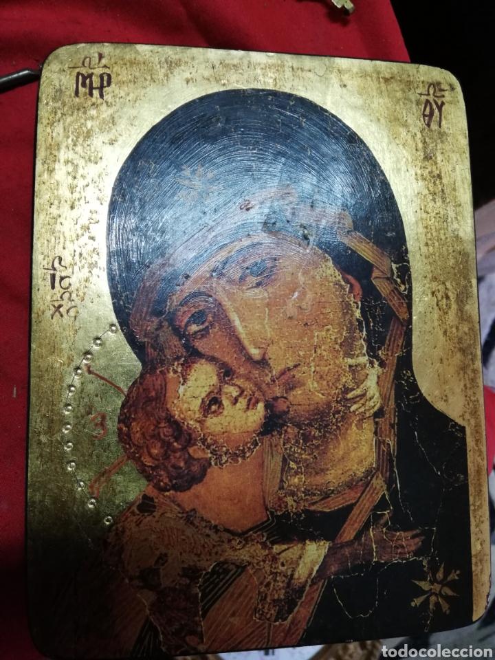 ANTIGUO ICONO RUSO (Art - Religious Art - Icons)