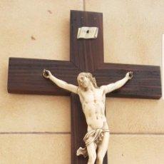 Arte: CRISTO ANTIGUO DE MAFIL SIGLO XVIII MUY EXPRESIVO BUEN ESTADO ALTA COLECION. Lote 147485658