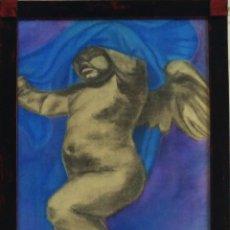 Arte: ANGELOTE, DIBUJO A CERAS DE 1879. . Lote 147621810