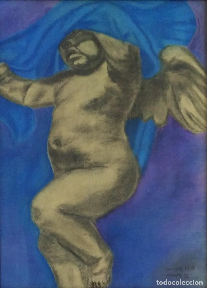 Arte: Angelote, dibujo a ceras de 1879. - Foto 2 - 147621810