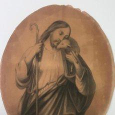 Arte: DIBUJO ORIGINAL A LÁPIZ DE 1876 , FIRMADO CON INICIALES E.R. - RELIGIOSO -. Lote 147761894