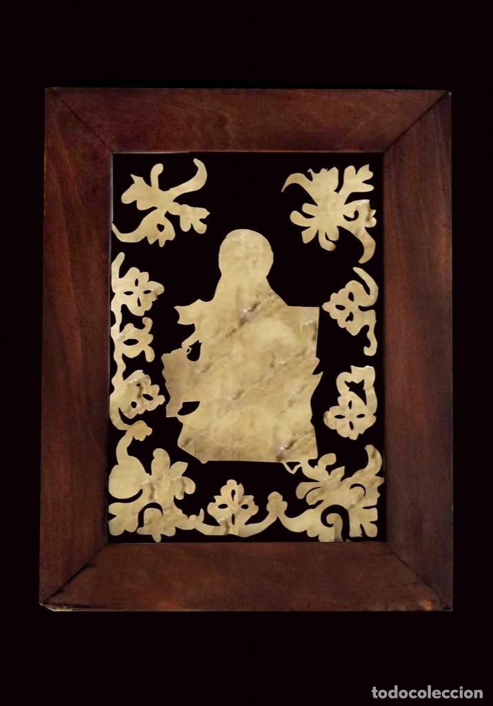Arte: Antigua Santa Ana bordada y pegada en cristal, recuperada. - Foto 2 - 27623772