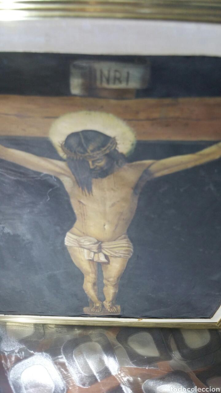 Art: Cuadro antiguo de La crucifixión de Jesucristo utilizando la técnica de la acuarela - Foto 4 - 147771181