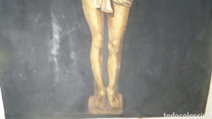 Art: Cuadro antiguo de La crucifixión de Jesucristo utilizando la técnica de la acuarela - Foto 6 - 147771181