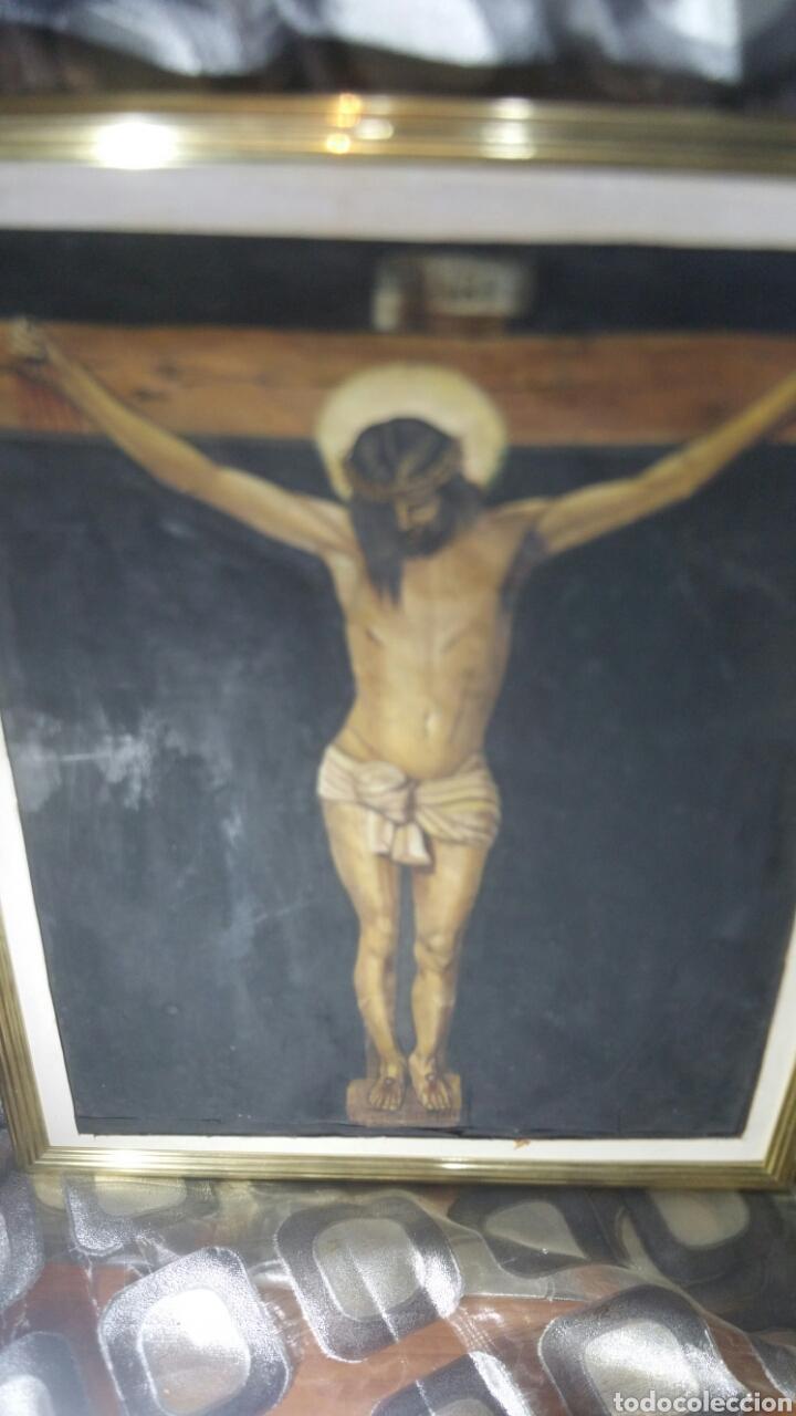 Art: Cuadro antiguo de La crucifixión de Jesucristo utilizando la técnica de la acuarela - Foto 8 - 147771181