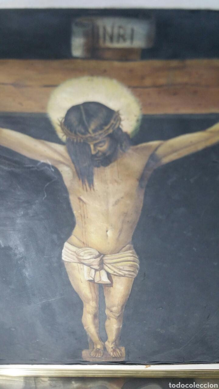 Art: Cuadro antiguo de La crucifixión de Jesucristo utilizando la técnica de la acuarela - Foto 13 - 147771181
