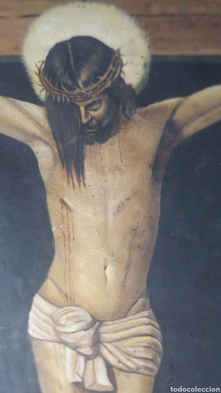 Art: Cuadro antiguo de La crucifixión de Jesucristo utilizando la técnica de la acuarela - Foto 14 - 147771181