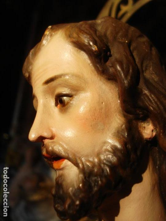 Arte: EL ARTE CRISTIANO ANTIGUO SAN JOSÉ CON NIÑO PASTA DE MADERA - Foto 6 - 147815526