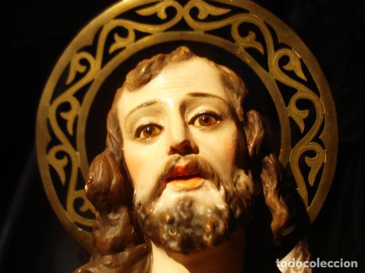 Arte: EL ARTE CRISTIANO ANTIGUO SAN JOSÉ CON NIÑO PASTA DE MADERA - Foto 11 - 147815526