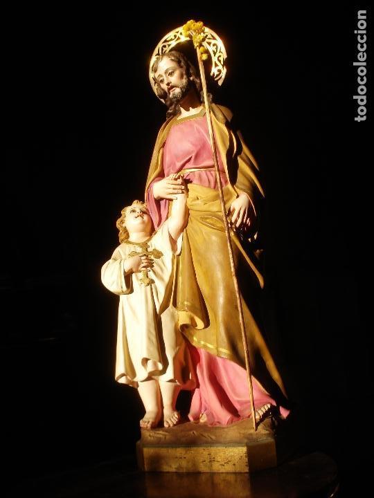 Arte: EL ARTE CRISTIANO ANTIGUO SAN JOSÉ CON NIÑO PASTA DE MADERA - Foto 17 - 147815526