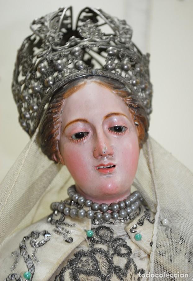 Arte: ANTIGUA VIRGEN DE MADERA TALLADA - VIRGEN CAP I POTA - Foto 2 - 147888166